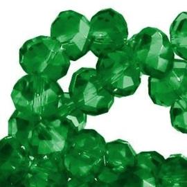 15 x Topfacet 8x6 mm Porcelain green
