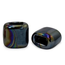 1 x C.U.S sieraden schuiver DQ Grieks keramiek 11x12mm Black