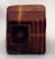 25 x houten kraal 8x8mm Gat: c.a. 3mm