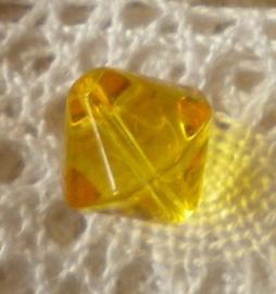 Glaskraal bicone 10mm goud geel