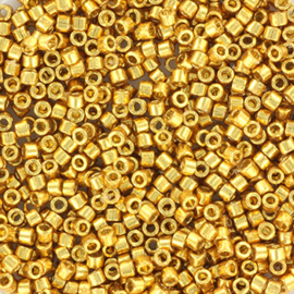 c.a. 5 gram Miyuki delica's 11/0 - duracoat galvanized gold