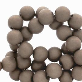 30 x 6 mm acryl kralen Taupe grey