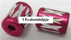 10 x Prachtige rode aluminium kraal