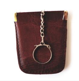 Sleutel etui - faux leder kleur rood bruin model A