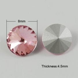 5 x Puntsteen Preciosa voor Puntsteen SS39 Setting c.a. 8x4,5 mm Roze
