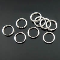 100 ringetjes 5mm nikkelkleur 0,7mm dik