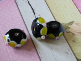 5 x High Quality Glass Hand Made Bead 85 afm. ca. 11 x 20mm