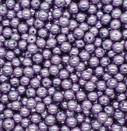 30 stuks glasparels 8mm gat c.a. 1mm kleur lila