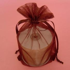 1 x luxe organza zakje, kies uit 6 verschillende maten - Brown