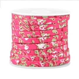 20 cm Trendy plat koord 5mm Hot pink
