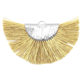 Kwastjes hanger Silver-yellow gold