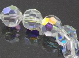 15  stuks Tjechisch kristal AB facet kralen 6mm