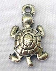 Tibetaans zilveren bedeltje van een schildpad 20mm gat 1,2mm