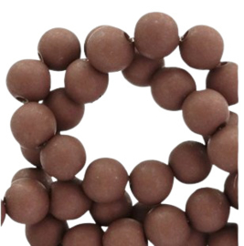 15 x 10 mm acryl kralen milk chocolate gat: 1,8mm