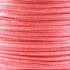 2 meter Waxkoord 1.0 mm Paparacha Roze