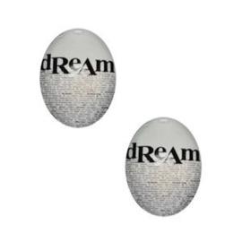2 x Glas Cabochon 18x13 mm Dream