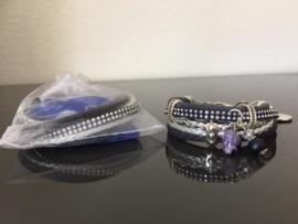 Workshoppakket DIY armband Silver blue