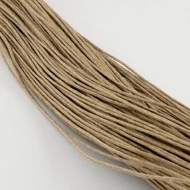 10 meter waxkoord 1,5mm dik kleur: naturel smoked beige