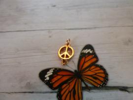 DQ metaal tussenzetsel vrede 10 x 17mm met 1 ringetje rosegold