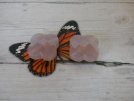 1x Kristal Bloem Kraal oud roze Afmeting ca. 16.4 x 16.4 x 7.5mm Gat: 1.5mm