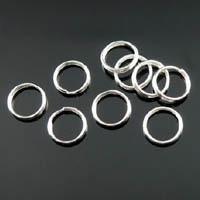 100 ringetjes 10 x 1mm nikkelkleur