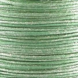 10 meter Waxkoord 1.0 mm Honeydew Metallic