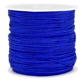 Rol met 90 meter Macramé satijndraad 0.8mm Cobalt blue (kies voor pakketpost)
