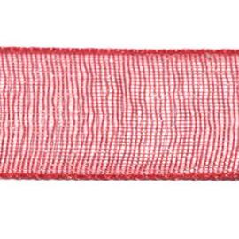 Organza Lint 10 mm per 5 meter Rood