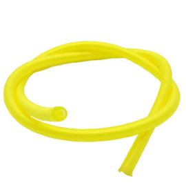 100 cm hol Rubber DQ koord 2mm per meter geknipt geel