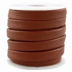 20 cm coco imitatie leer middel bruin 9 x 3.5 mm