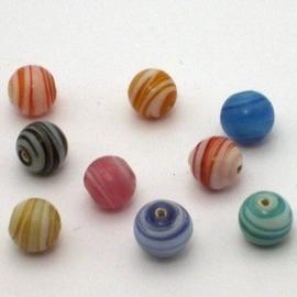 10 stuks Keramiek kralenmix 10mm rond