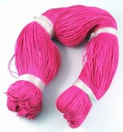Waxkoord 10 meter 1mm hot pink roze
