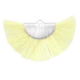 Kwastjes hanger Silver-light yellow