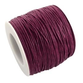 10 meter Waxkoord 1.0 mm Violet Red
