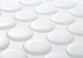 3x transparante epoxy stickers rond diameter 12mm