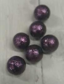 10 Stuks paarse suikerparels van glas 8mm gat 1mm