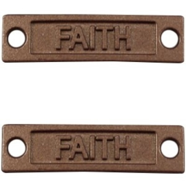 1x Bedel Faith 2 ogen Mat Bruin 34x9 mm