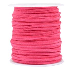 3 meter Imi suède 3mm Hot pink