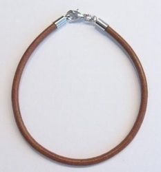 Per stuk Armband European-style Roze leer 17 cm