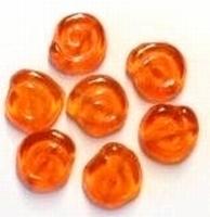 10 Stuks Glaskraal oranje slakkenhuis 12 mm