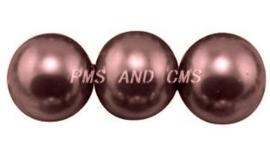 20 x prachtige glasparel kleur: Grayish Purple 12mm