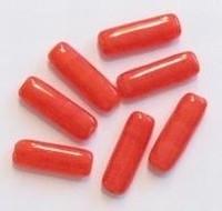 10 Stuks Glaskraal staaf rood 17 mm