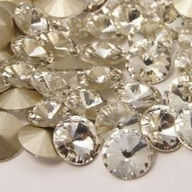 5 x Puntsteen  Rivoli Preciosa  SS45 Setting c.a. 10mm crystal