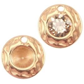 1x DQ hanger voor PP32 puntsteen Rosé goud ca. 9mm (voor PP32 puntsteen 4mm)