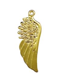 2x Prachtige grote Tibetaans zilveren Engelen vleugel, goud 56 x 26 x 2mm Gat 2,5mm