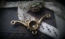 Per stuk tibetaans antiek gouden tussenzetsel 39 mm