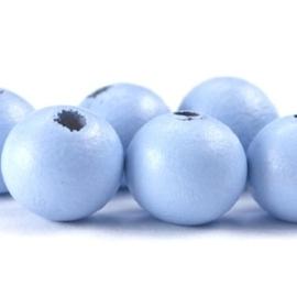 20 x ronde 6 mm kraal Zacht blauw