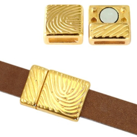 1 x Onderdelen DQ metaal magneetslot fingerprint Ø10x2mm Goud
