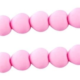 10 stuks Acryl kralen hart 10mm  licht roze