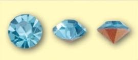 Doosje met 6 stuks Jewelry Stones (M.C. Chaton) 6mm Aquamarine SS28